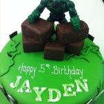 the hulk cake (plastic figure)