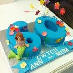 60th birthday cake with mermaids