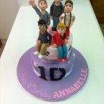 one direction cake with 5 handmade figures