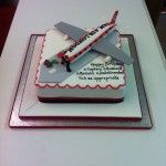 aeroplane on top of birthday cake