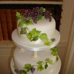 top tier with grapes
