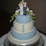 3 tier blue cake
