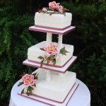 square on pillars with sugar peony