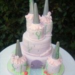 lilac castle cake