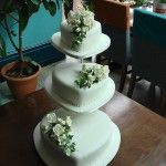 3 tier heart cake