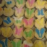 bright colour butterfly cupcakes