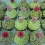 cupcakes with handmade roses