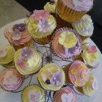 multicoloured cupcakes