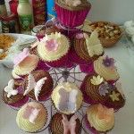 pink cased cupcakes