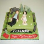 "Twilight cake, Eclipse, Edward Cullen and ""birthday girl"""