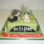 twilight cake with edward cullen, eclipse