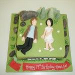 twlilght eclipse cake with edward cullen and birthday girl