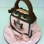 juicy couture handbag cake pink and brown