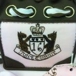 hand painted juicy couture badge