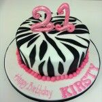 zebra print 21st birthday cake