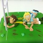 rugby scrum on cake