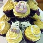 handbag and shoes cupcakes