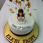 fairy popping out of cake