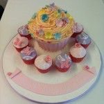giant cupcake with refreshing pastel colours