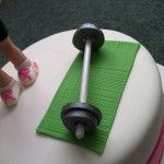gym cake icing weights bar