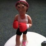 boxing gym cake