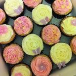 pink and lemon cupcakes