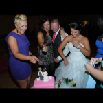 Gemma and David Rowe with their Wedding cake, October 2011